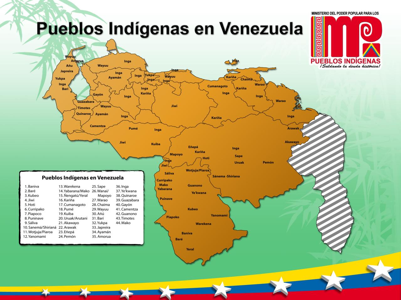Mapa De Los Pueblos Ind  Genas En Venezuela