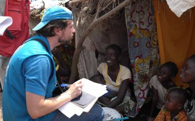 """""""Fico extremamente feliz quando vejo o impacto positivo imensurável do ACNUR na vida das pessoas deslocadas"""""""