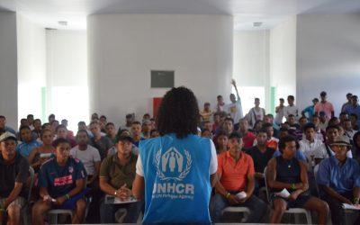 Com assistência do ACNUR e emprego garantido, 130 venezuelanos são interiorizados para Mato Grosso do Sul