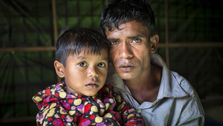 Bangladesh. Four generations of Rohingya family living as refugees