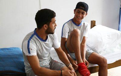 Jogadores de futebol da Síria treinam para se profissionalizar no Rio de Janeiro