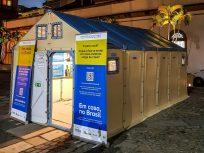 """Exposição """"Em casa, no Brasil"""" convida visitante a conhecer casas utilizadas pelo ACNUR para abrigar venezuelanos em Roraima"""