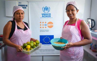 Cozinha em abrigo adapta cardápio para venezuelanos com restrições alimentares