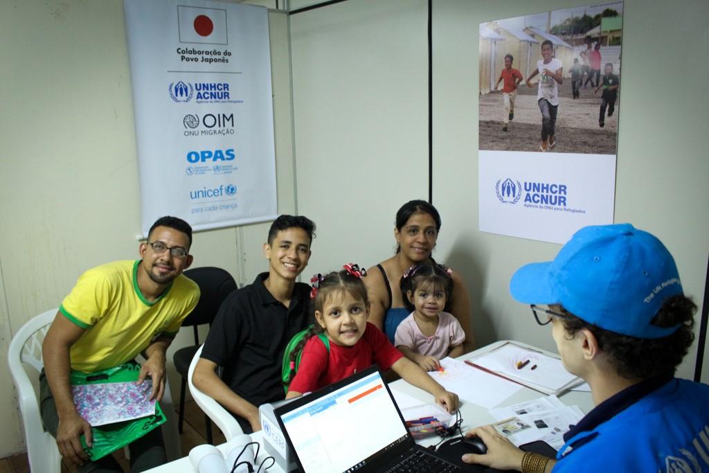 Francisco, Marier e família se deslocaram até Manaus e agora estão inclusas no banco de dados de registro do ACNUR