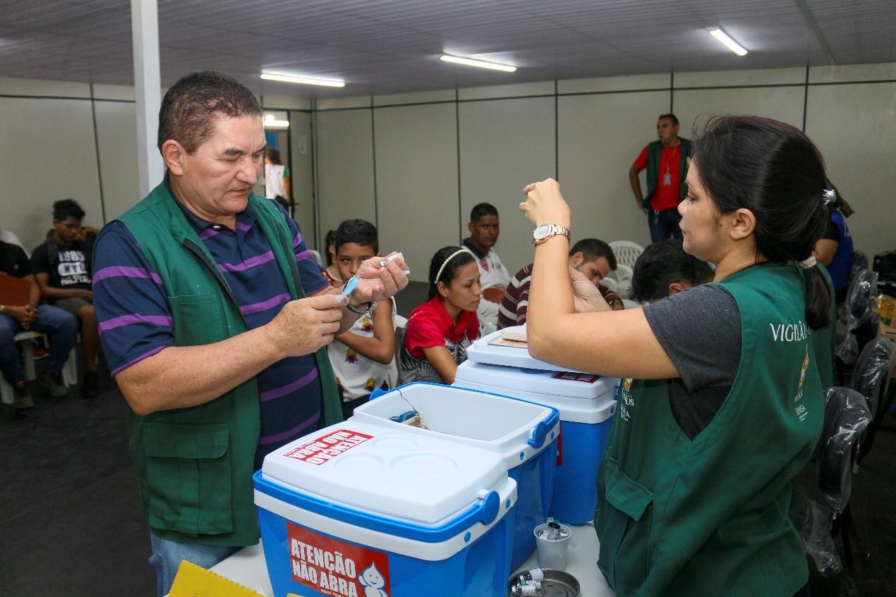 Vacinas são ofertadas no Posto de Documentação e Interiorização de Manaus (PITRIG)
