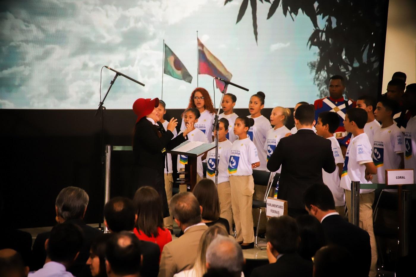 Foi a primeira vez que os Canarinhos da Amazônia se apresentaram no Palácio do Planalto