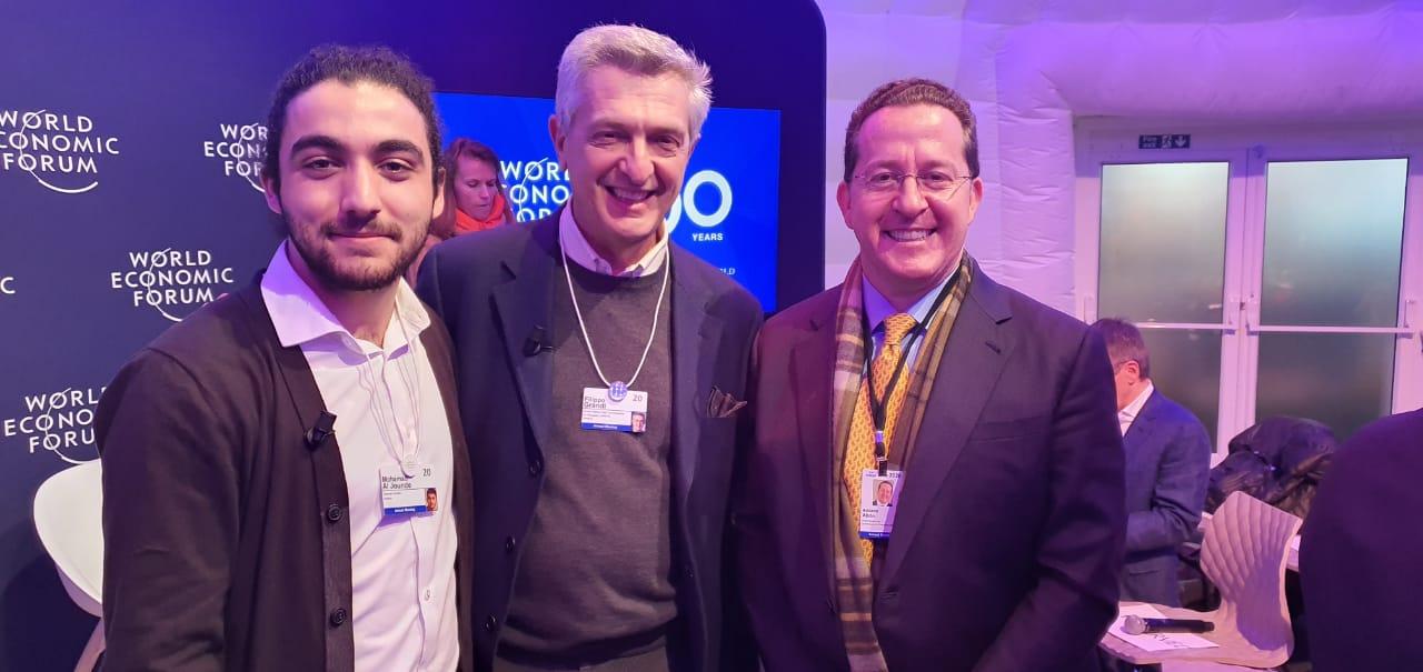 Da esquerda para a direita: Mohamad Al Jounde, refugiado sírio vencedor do Prêmio Internacional Direito da Criança 2017, Filippo Grandi, Alto Comissário da ONU para Refugiados e Adriano Abdo, Membro do Comitê Mobilizador do ACNUR Brasil