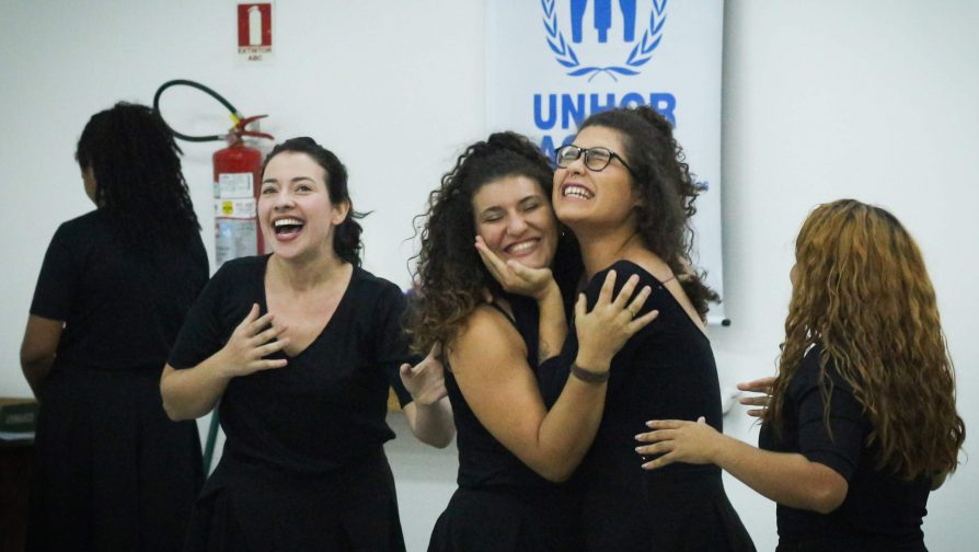 Primeira parte da oficina, ainda em dezembro, contou com apresentação da Companhia Trilhares de Teatro, de Manaus
