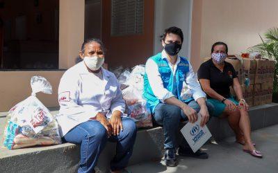 Ação da Cidadania e ACNUR doam alimentos para venezuelanos em situação de vulnerabilidade no Brasil