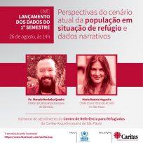 Caritas São Paulo e ACNUR promovem evento online para divulgar dados de refugiados atendidos em 2020