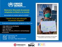 ACNUR lança relatório sobre impacto da COVID-19 na educação de crianças refugiadas
