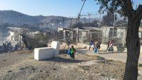 ACNUR oferece apoio a centro de registro destruído pelo fogo em Moria