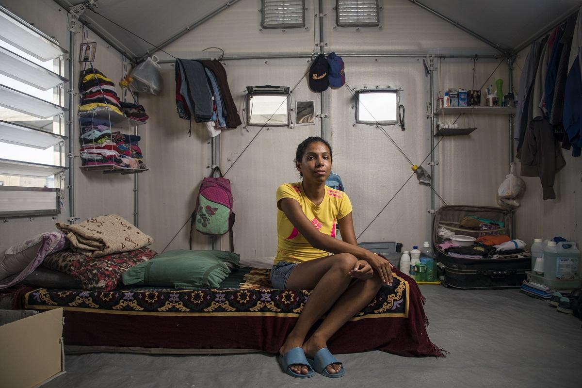 Retrato de Zencija Jimenez no abrigo temporário Rondon 3