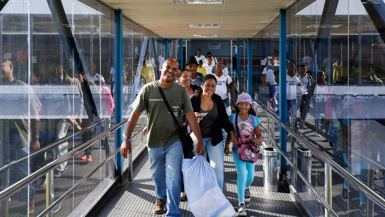 25/09/2018 Embarque dos imigrantes venezuelanos para interioriza