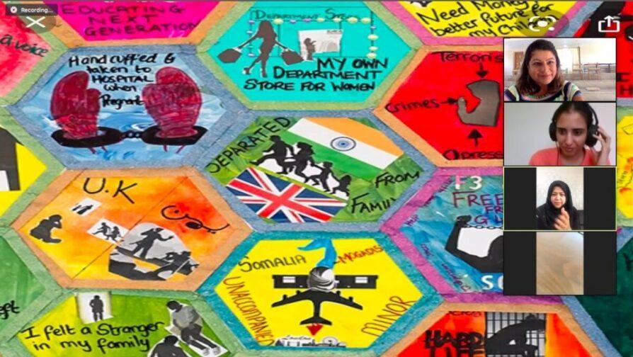 O Migration Blanket, que faz parte do projeto ARTconnects, promove integração, paz e tolerância