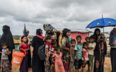 Período de monções ameaça refugiados Rohingya em Bangladesh