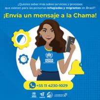 """ACNUR lança chatbot """"Chama"""" para reforçar comunicação com refugiados e migrantes da Venezuela"""