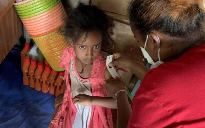 Enfermeiros deslocados prestam cuidados de saúde na Etiópia