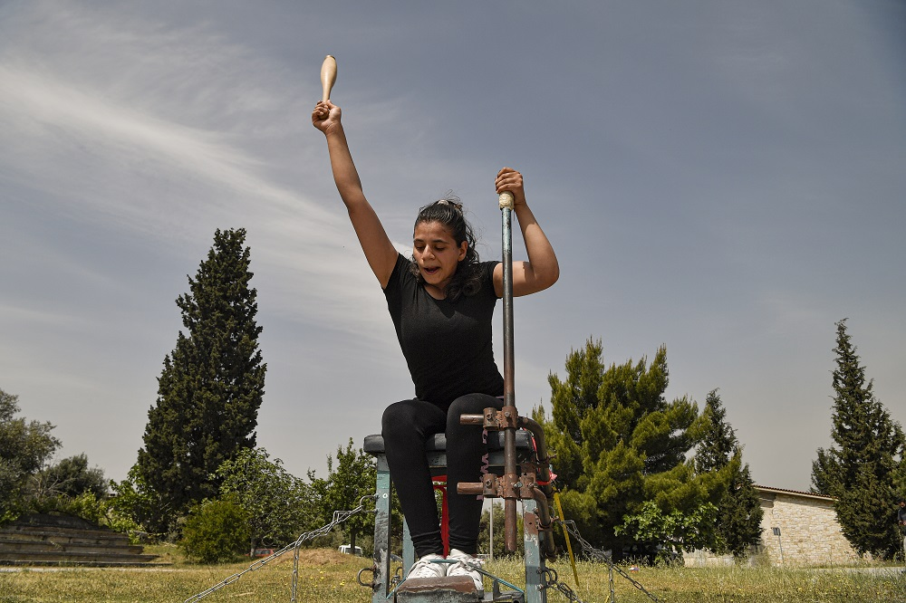 Greece. Alia Issa trains with hope of a place on the Refugee Paralympic Team