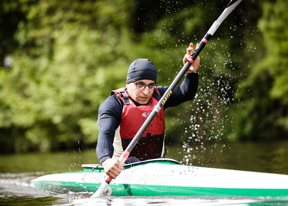 Germany. Refugee Athlete Anas Al Khalifa trains with hopes of a place on the Refugee Paralympic Team