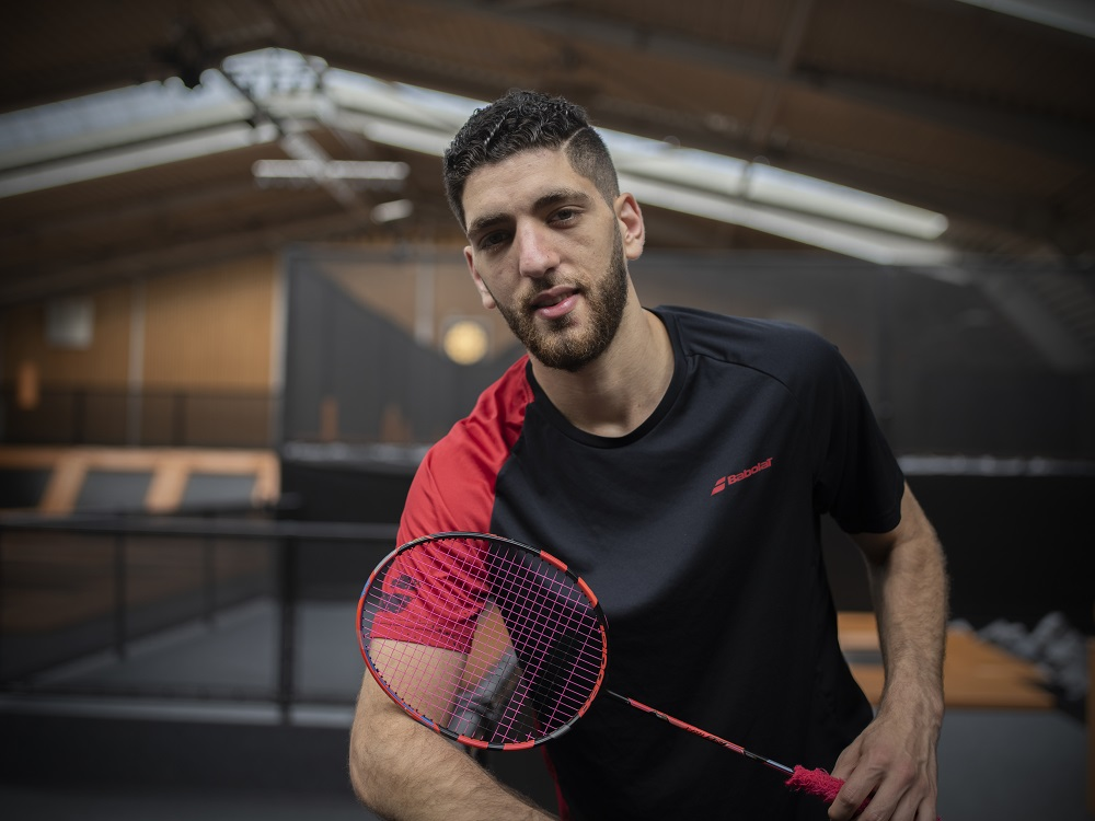 Netherlands. IOC Refugee Athlete Scholarship Holder Aram Mahmoud trains in Almere