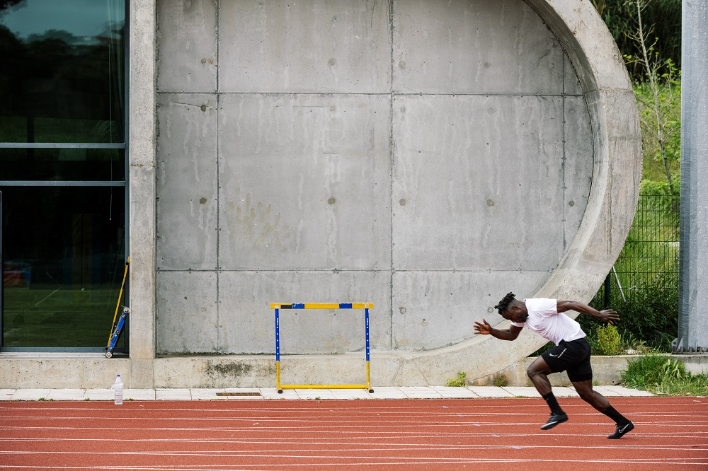 Portugal. Dorian Keletela trains in pursuit of a place on the IOC Refugee Olympic Team