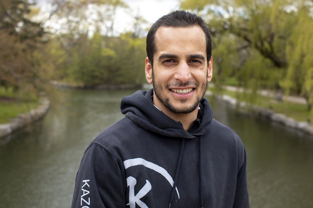 Canada. Karateka and IOC Refugee Athlete Scholarship Holder Hamoon Derafshipour trains for a spot on the Refugee Olympic Team