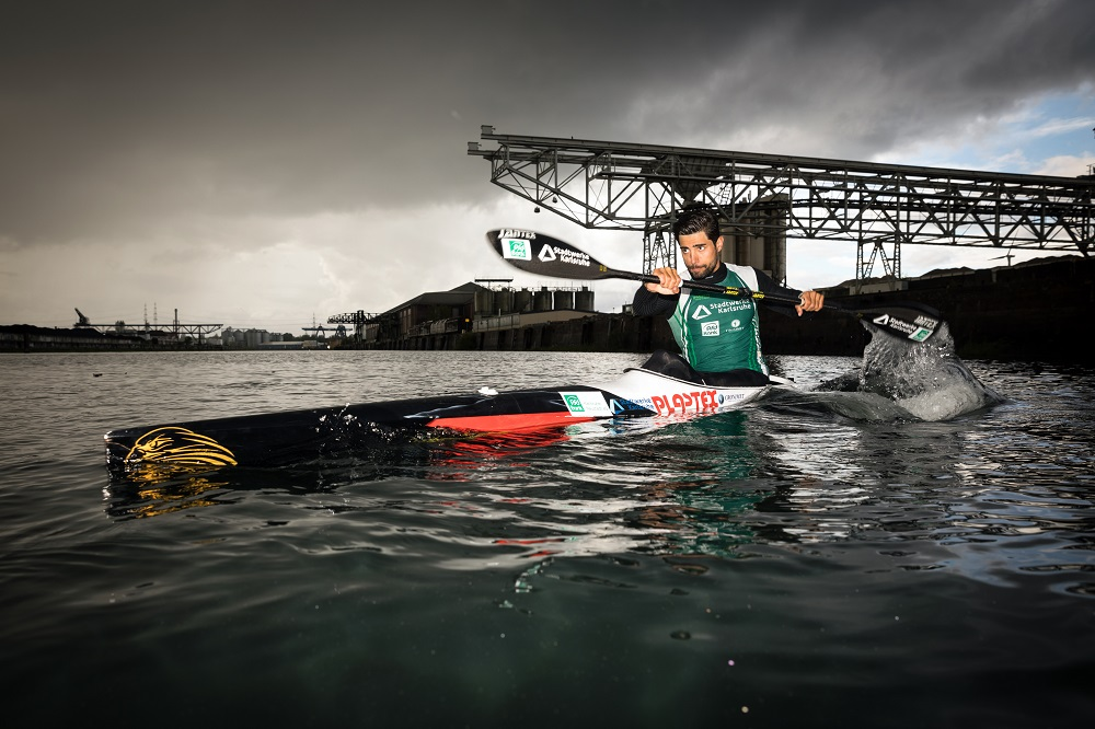 Germany. Canoeist Saeid Fazloula is training hard in the hope to compete in Tokyo 2020 under the Olympic Flag as a member of the Refugee Olympic Team.