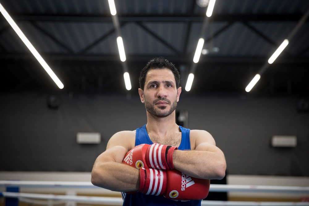Germany. Boxer Wessam Salamana is training hard in the hope to compete in Tokyo 2020 under the Olympic Flag as a member of the Refugee Olympic Team.