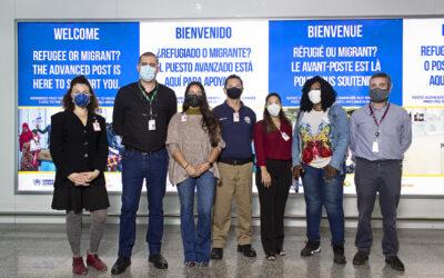 ACNUR e parceiros fortalecem a proteção internacional de refugiados e migrantes em aeroportos brasileiros