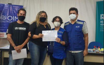 ACNUR e OIM capacitam profissionais humanitários em gestão e coordenação de abrigamento em Belém