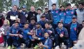 Los Saint-Omer Cricket Club Stars tras ganar el torneo Liettres 1478.