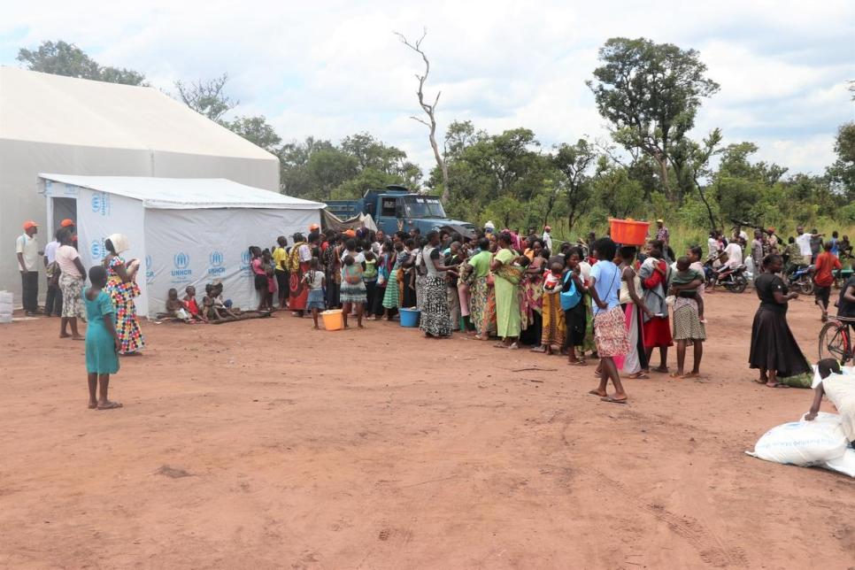 Vista general del asentamiento de refugiados de Lóvua, en Angola (marzo de 2018).