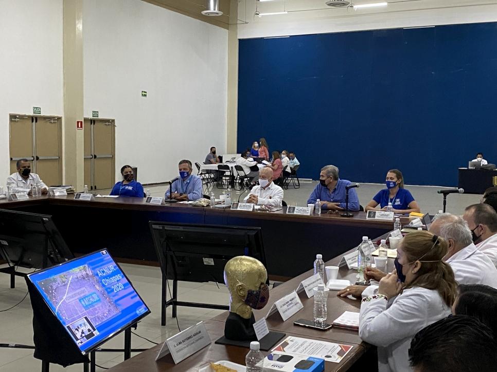 ACNUR participó en la reunión del Comité Estatal para la Seguridad en Salud.