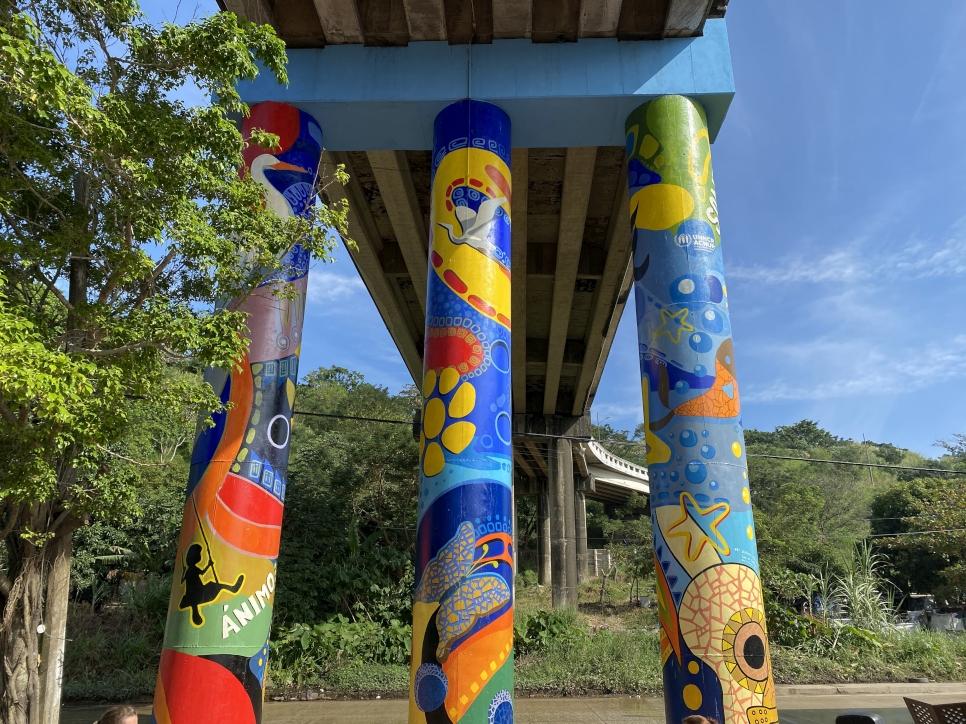 Mural ubicado en Coatzacoalcos, Veracruz.