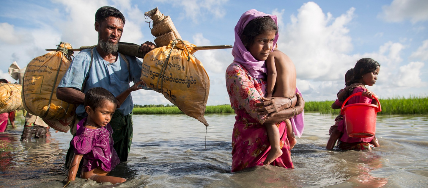 Bangladesh. Thousands of new Rohingya refugee arrivals cross the border