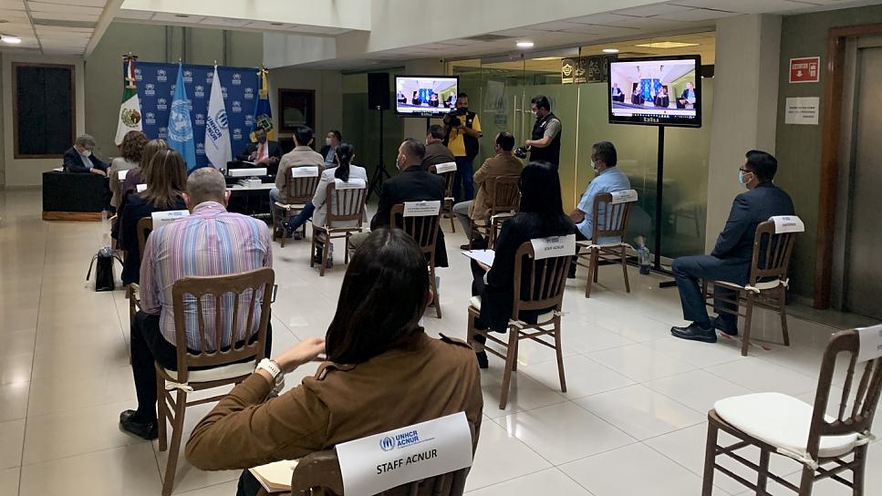 La presencia de ACNUR en Guadalajara inició en 2019 apara responder al incremento de solicitantes de asilo en el occidente de México.