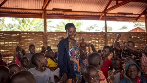 Tanzania. Burundian schoolkids and teachers desperate for learning resources