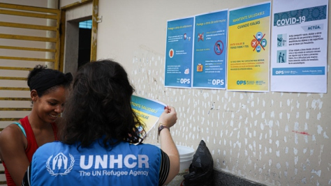 Brazil. Venezuelan refugees receive Covid-19 prevention guidelines